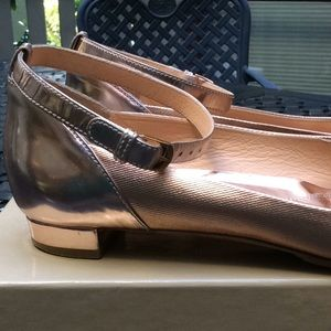 Sergio Rossi Shoes - Sergio Rossi rose ankle flats size 38.5